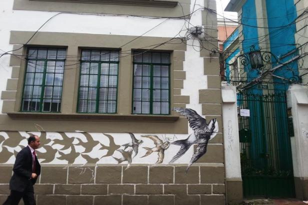 Mexican artist - Bogotá street art - Latinamerikaliv