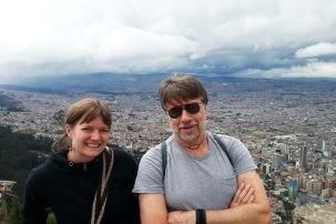 Enjoying the Bogotá view from Monserrate