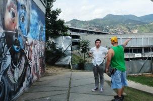 Visiting Comuna 13 with Ciro from Kolacho Hip Hop Collective, Medellín