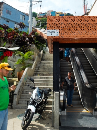 The escalators as a public transport option has been helpful for some people but also heavily criticised by the residents of Comuna 13.